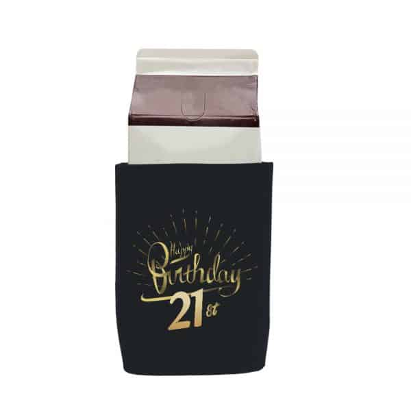 Birthday 21st Stubby Holder Carton