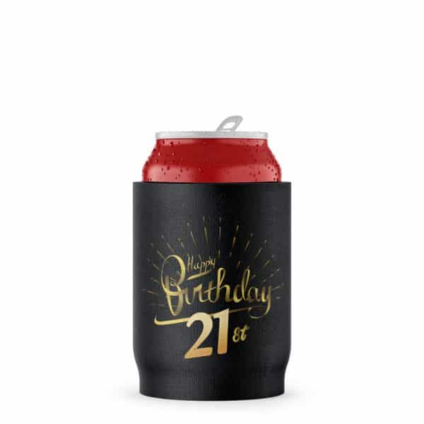 Birthday 21st Stubby Holder Beer Can