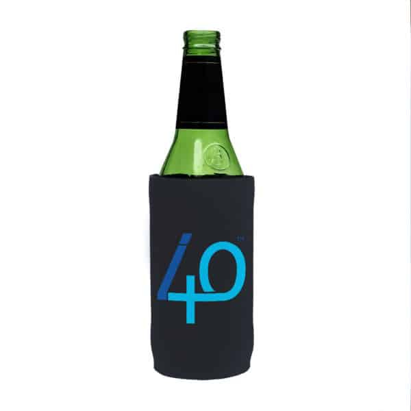 40th Stubby Holder Beer Tall