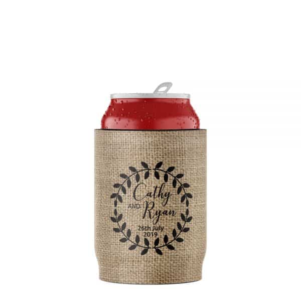 Wedding Vintage Stubby Holder Beer Can