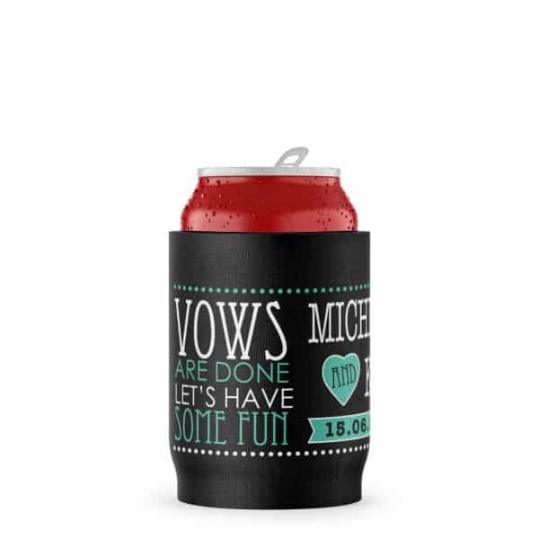 Wedding Vows Funny Stubby Holder Beer Can