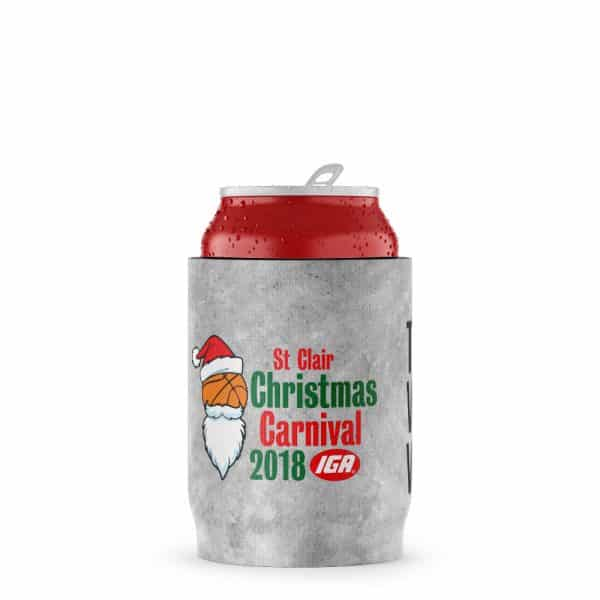 Christmas Carnival Stubby Holder Beer Can