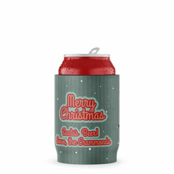 Christmas Stubby Holder Can Beer