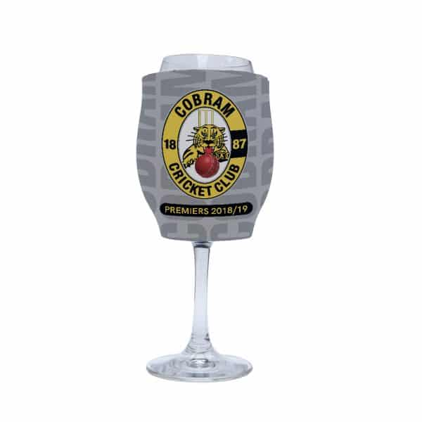 Sport Cricket Stubby Holder Wine