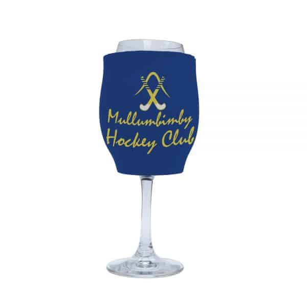Hockey Club Blue Stubby Holder Wine