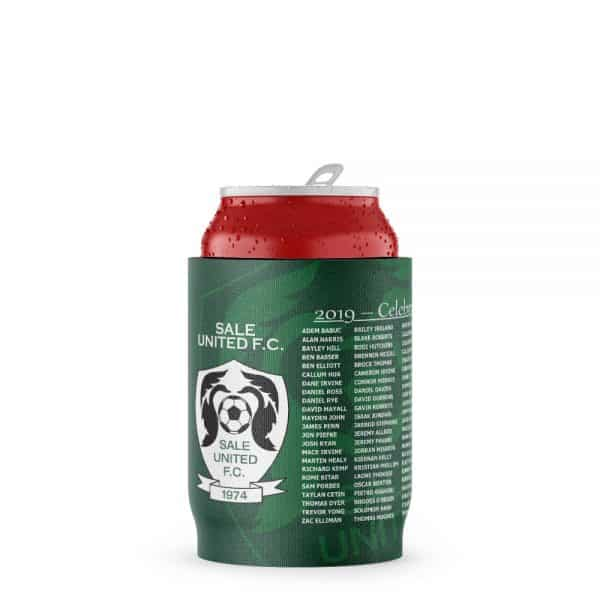 Soccer Green Stubby Holder Beer Can