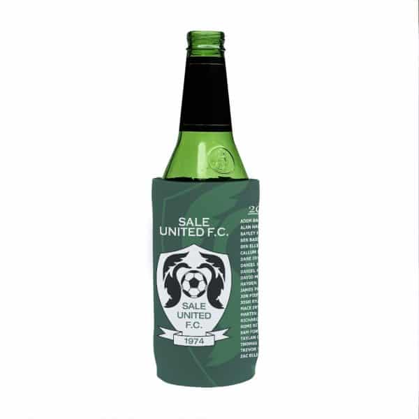 Soccer Green Stubby Holder Beer Tall