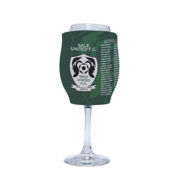 Soccer Green Stubby Holder Wine