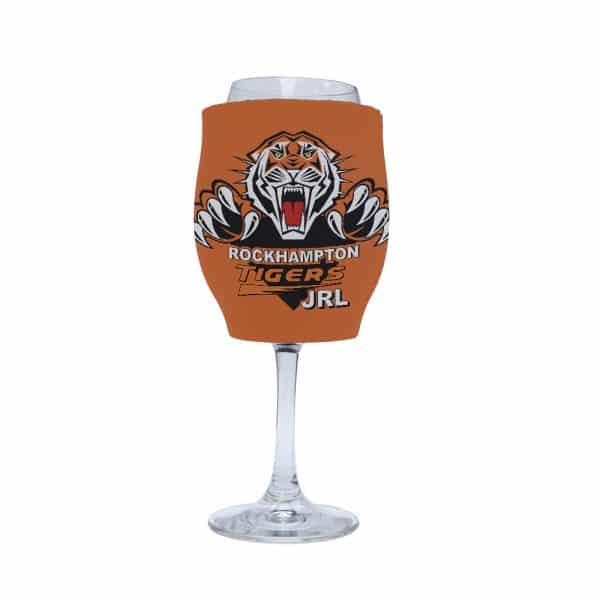 Rugby League Stubby Holder Wine